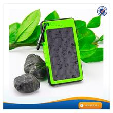 AWC606 6000mAh Factory Price waterproof portable solar power bank water powered mobile charger