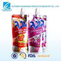 Safty food grade laminated aluminum foil juice doy pack