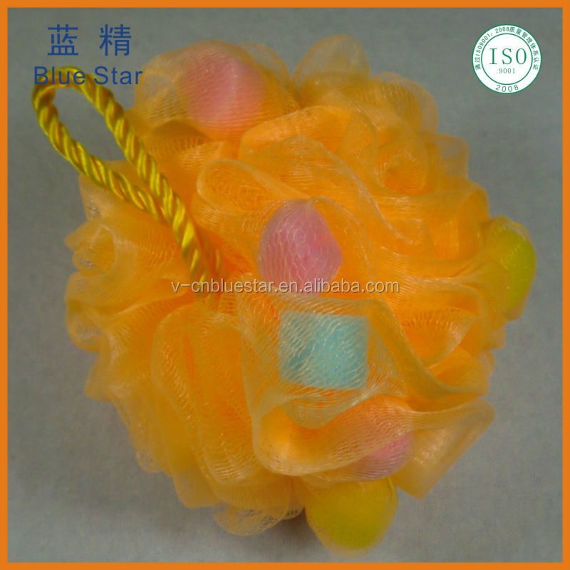 OEM brush colorful shower bath ball maunufacturer soap puff