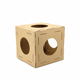 Assembled Cardboard Cat Box House Indoor Folding Cat Cage Set