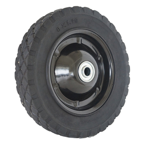 China high friction lightweight rubber 150mm 6 inch lawn mower grass cutting machine wheels for sale