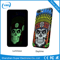 Fashion Phone Accessories 2017 Luminous Skull