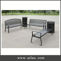 Arlau Furniture Bench, Outdoor Pubic Bench, Steel Chair Frame