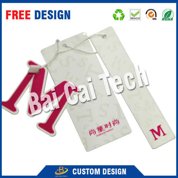 Customize paper clothing jeans garment tags
