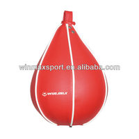 Popular boxing speed bag,boxing fitness speed ball,red color PVC inflatable boxing punching speed balls kick bags for sale