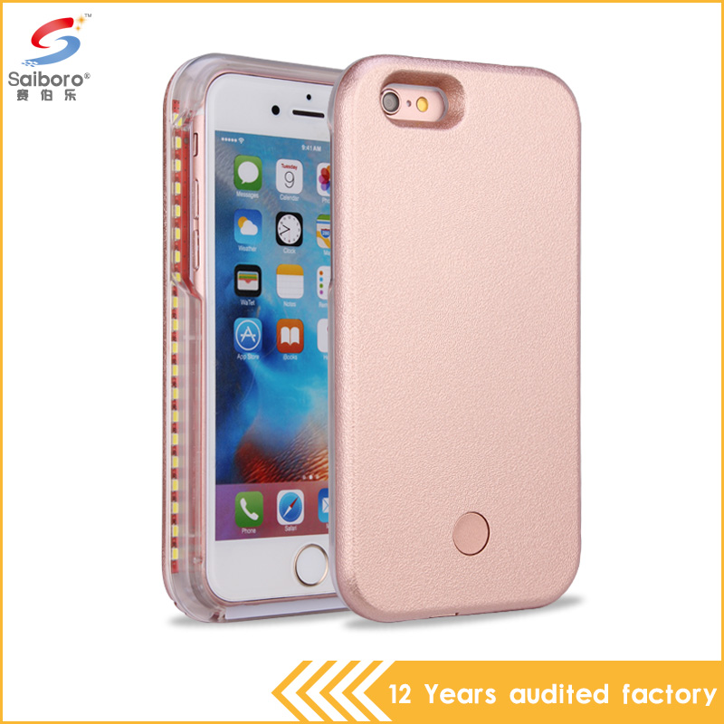 Most popular high quality light phone case with USB plastic material led phone case for iphone 6