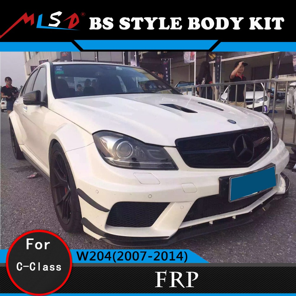 C63 Body Kit Black Series Style Sport Design Body Kits For Mercedes-Benz C-Class W204 Body Kit