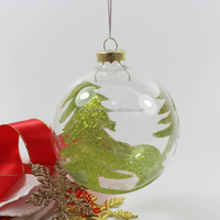 custom christmas green leaf design christmas ornamnets balls