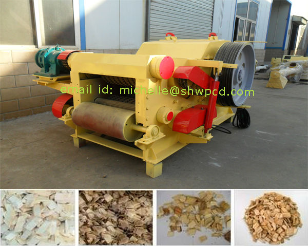 wood crusher machine, wood log drum chipper machine