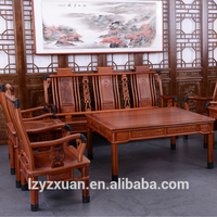 High quality hand carving 8 pieces wooden cheap antique design couch