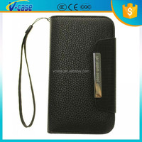 Mobile phone wallet leather case for samsung galaxy s3 i9300
