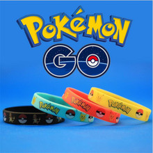 Ally Express Wholesale Silicone Bracelet Popular Game Pokemon Go Bracelet