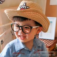 W72033G 2016 wholesale cheap five star pattern cowboy hat sun children kids hat