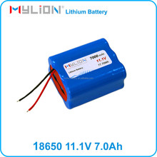 Mylion 18650 Li-ion battery 11.1v 7ah 3S for electrical equipment from china supplier