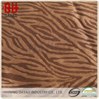 100% Polyester super soft zebra animal print micro velboa fabric
