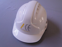 white buckle CE certificate ABS industrial engineering safety helmet China with ear muff & visor ratchet