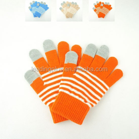 Colorful winter warm useful cheap gloves touch screen