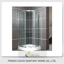 Arc Shower Simple Modern 6mm Tempered Glass Double sliding door Steam Shower Room Enclosure Bathroom With ABS Tray C632
