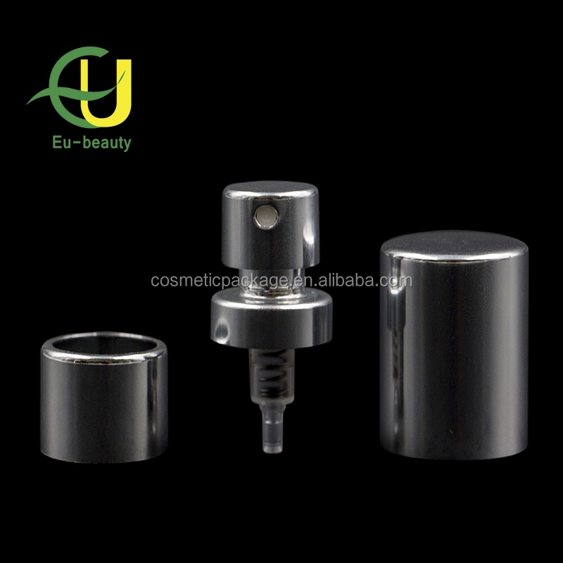 20/410 cosmetic aluminum fine mist sprayer with over cap