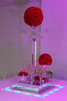 table top crystal chandelier flower stands