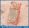 2014 Newly Arrive Bling Crystal Diamond Case For iPhone 5S 5 With Mirror