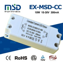 Thin slim plastic constant current 10W 20W led driver with five years warranty for indoor led lighting