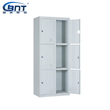 Two Line Six Doors Metal Storage office steel cabinet with dimension