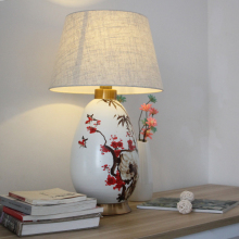 Chinese traditional ceramic hand painted design table lamp for table decor