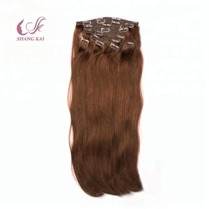 High-End Market Full Head Double Drawn Laced Clip In Hair Extension