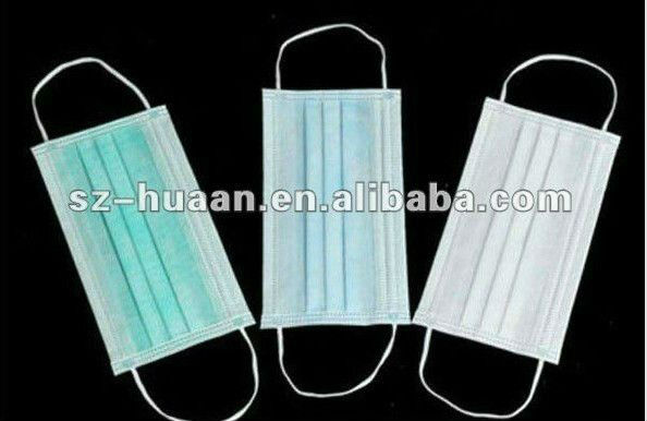Disposable earloop plane face mask ( 3-ply ) dust proof face mask