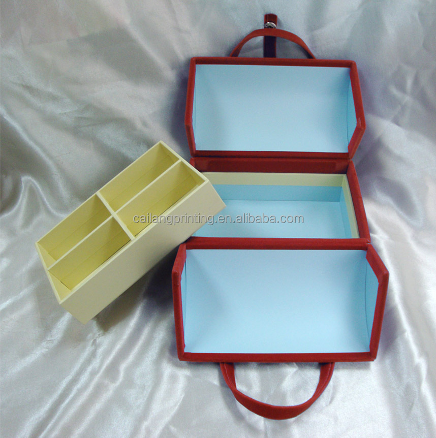 packaging paperboard box for baby garments suitcase style paper material box paper box for storage jewelry