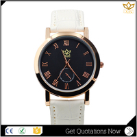 Festival gift white leather simple dial water resistant quartz analog watch Y010