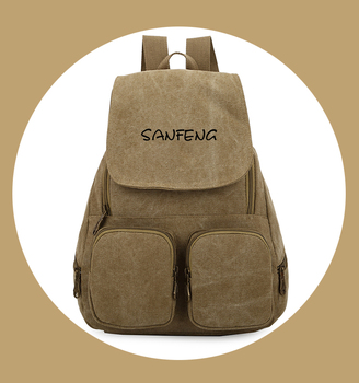 Blank Waxed Canvas Backpack Wholesale For Girls, Custom Trendy Daypack Casual Canvas Vintage Backpack