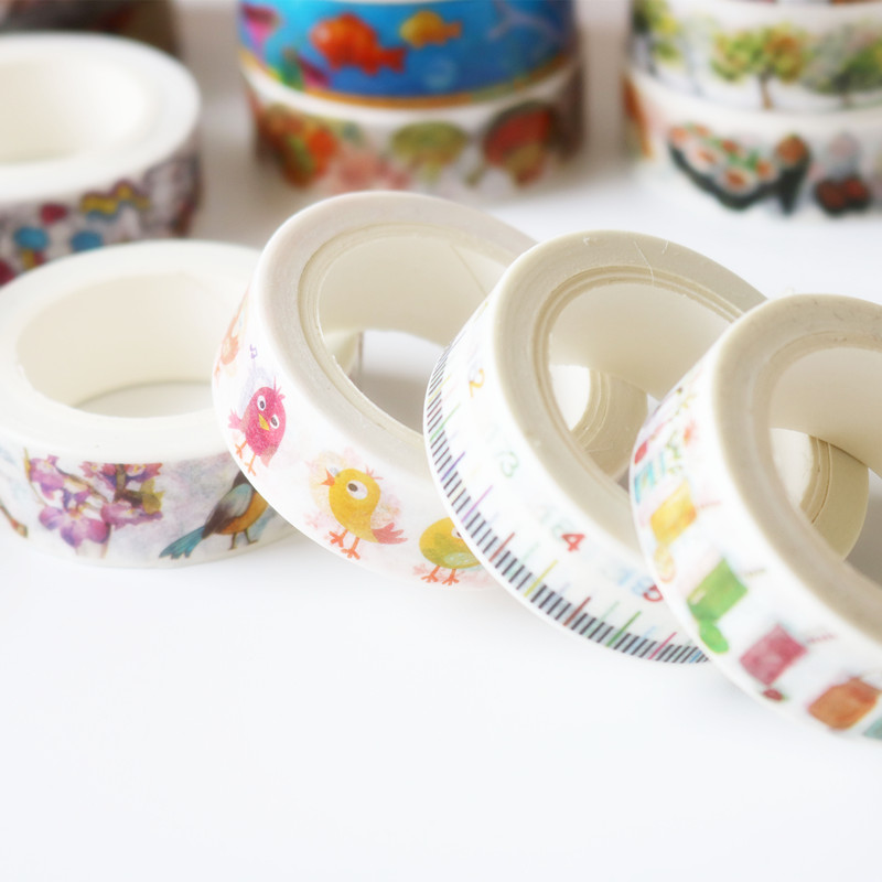 Free Shipping by DHL/<strong>FEDEX</strong>/SF Romantic Decorative Scrapbooking Masking Tape School Office Supply