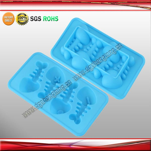 China Supplier silicone animal fish shape ice cube tray for summer
