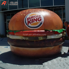 Giant Advertising Inflatable Replica Burger Inflatable King Hamburger Character Cartoon