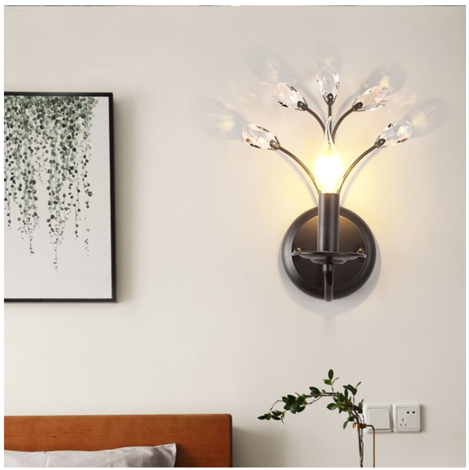 Modern Nordic Design E14 Vintage Crystal Led wall lights