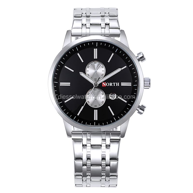 Specialized design for business men japan mov't stainless steel watch