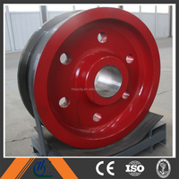 China supplier hot sale die-forged and casting crane wheels