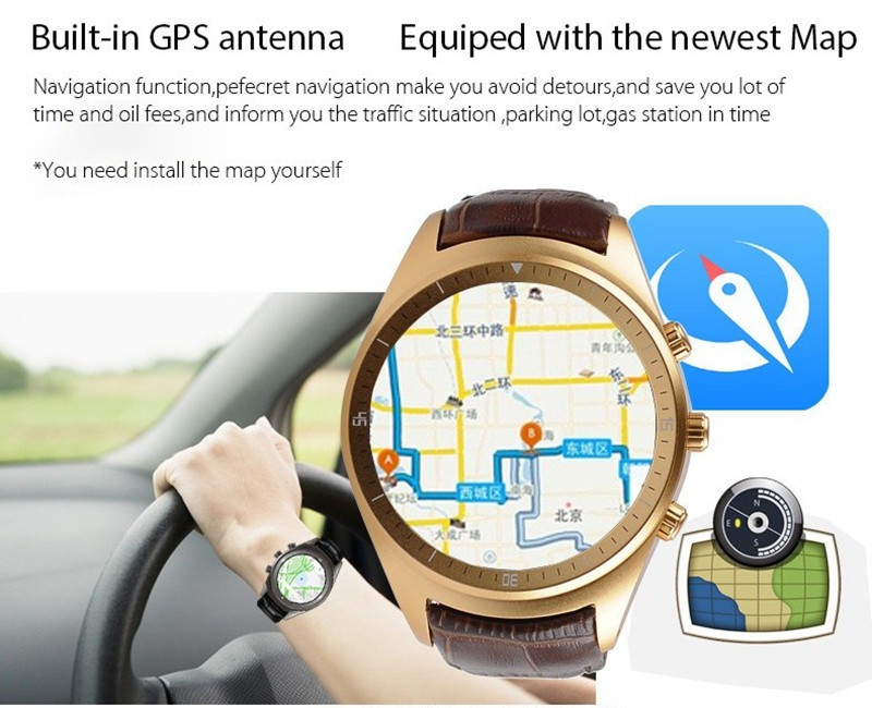 2016 <strong>K18</strong> Smart Watch 3G Android 4.4 SmartWatch Support Heart Rate WiFi Bluetooth Watch For iPhone Samsung Huawei Xiaomi 9033