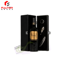 Decorative high quality luxury single bottle leather wine carry case