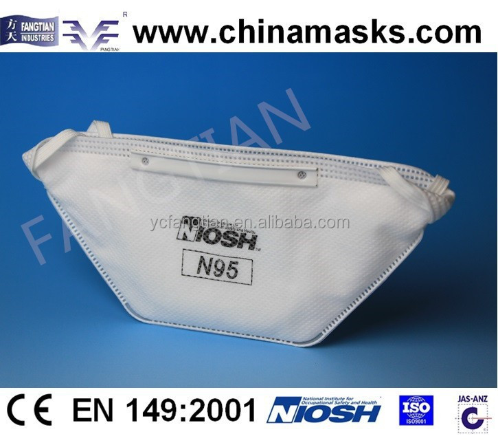 N95 flat folded dust mask
