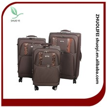 cheap nylon material new design long classic trolley luggage bag with trolley