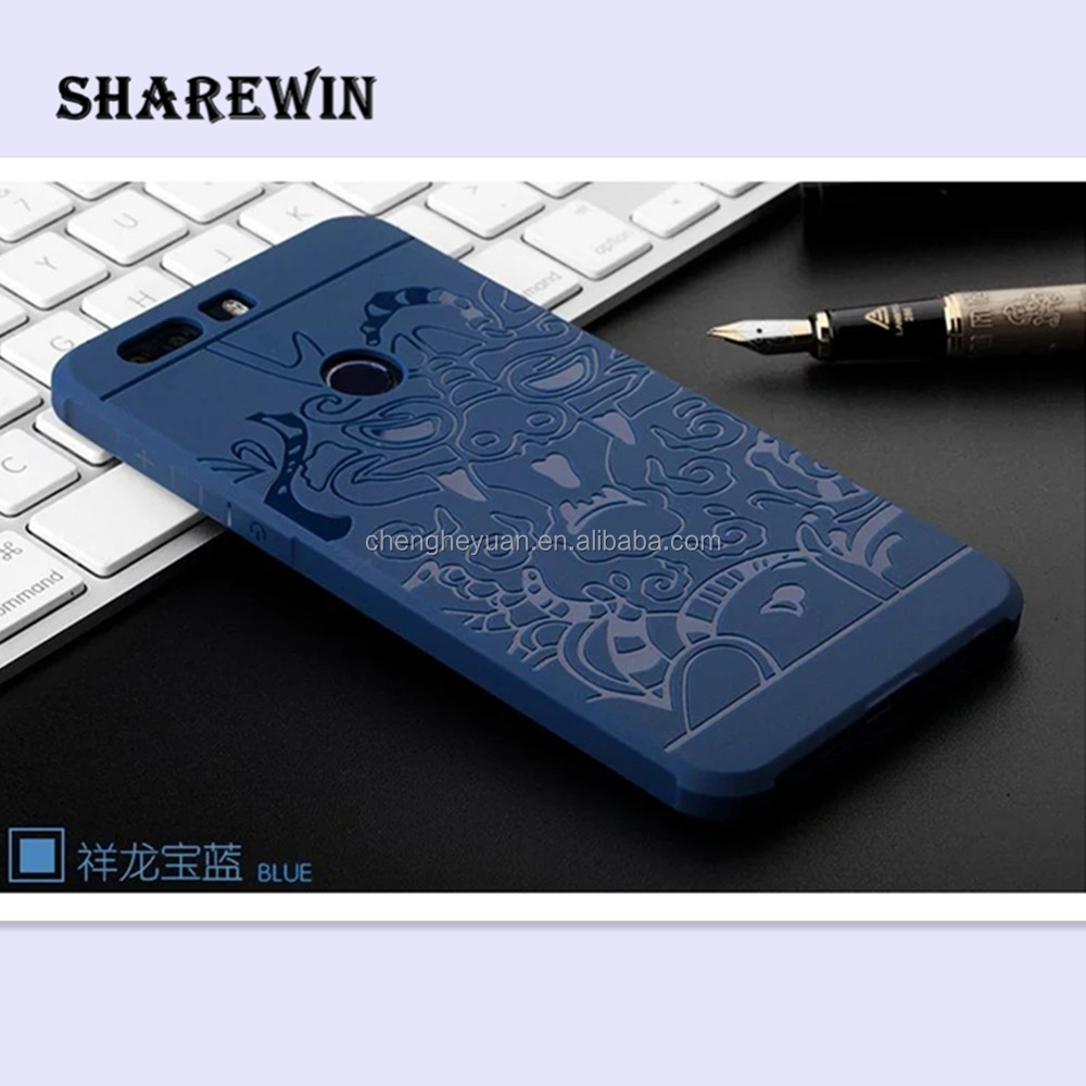 3D Dragon Style Soft Silicon TPU Shockproof Case Cover for Huawei Honor 8