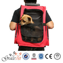 [Grace Pet] Rolling Backpack Travel Pet Carrier for Cats and Dogs