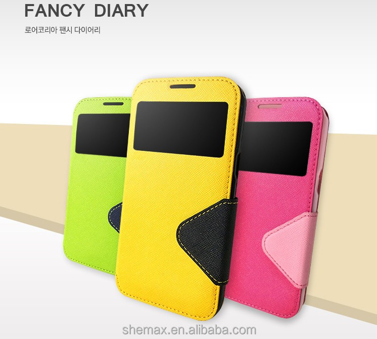 Window View Flip Wallet Leather Case Cover With Stand For HTC One 2 M8, For HTC One 2 M8