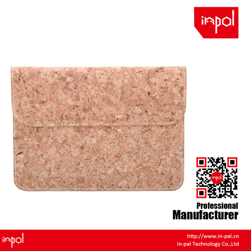 New arrivals well-stitched protective envelope cork leather case for apple ipad mini