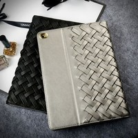 2016 New Arrival Woven Leather Custom tpu Case for iPad mini 4