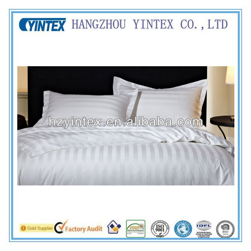 Star hotel 3cm stripes satin king size Bed linens