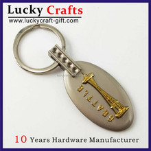 Zhongshan Double Plating Dubai Letter Metal Keychain With Metal Ring